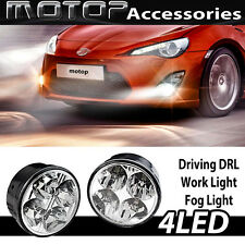 PAIR 4 LED MERCEDES BENZ STYLE DRL DAYTIME RUNNING DRIVING LIGHT FOG LIGHT BULBS