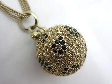 Allen Schwartz ABS Leopard Rhinestone Pendant Necklace