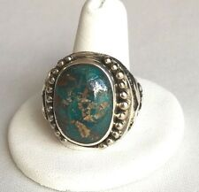 Turquoise Turkish Ring Handmade Jewelry Gemstone 11 Mens 925 Sterling Silver