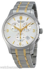 Victorinox 241481 Swiss Army Silver Dial Stainless Steel Chronograph Men's Watch