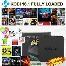 Android 5.1 Smart TV BOX MXQ-4K KODI 16.1 Fully Loaded Network Streamer 4K H.265