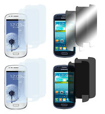 8 x Samsung Galaxy S3 Mini Klar + Matt + Spiegel + Privacy Displayschutz Folie