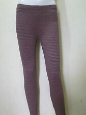 "Large 26""-31"" RED Women's Leggings in Cotton v#6 Stripes"
