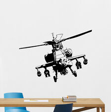 Apache Helicopter Wall Decal Nursery Poster Vinyl Sticker Art Garage Decor 74hor
