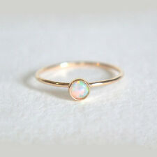 White Fire opal Gemstone 14K Solid Yellow Gold  Handmade Ring  Fine Jewelry Gift