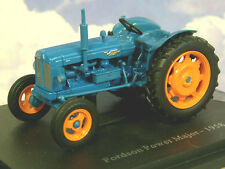 U/H HACHETTE DIECAST 1/43 1958 FORDSON POWER MAJOR TRACTOR IN BLUE & ORANGE TR09