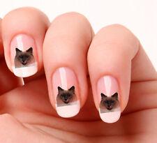 20 Nail Art pegatinas transferencias calcomanías # 567-Gato Siamés Solo Peel & Stick