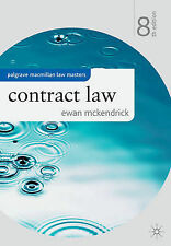 Contract Law (Palgrave Macmillan Law Masters), Ewan McKendrick, Very Good