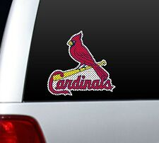 "*BIG* 12"" ST LOUIS CARDINALS CAR HOUSE PERFORATED WINDOW FILM DECAL MLB BASEBALL"