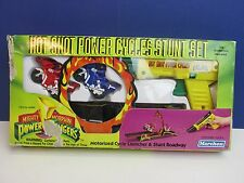 very rare boxed complete POWER RANGERS HOT SHOT POWER CYCLES STUNT SET mmpr
