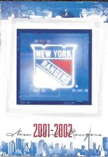 2001-02 NHL HOCKEY SCHEDULE - NEW YORK RANGERS