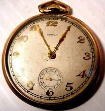 ANTIQUE GOTHAM SWISS 17 JEWELS THIN POCKET WATCH 10K GOLD FILLED RUNS