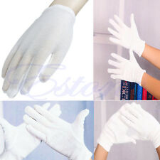 12 Pairs White Cotton Gloves Moisturising Work Coin Jewelry Safety Protection