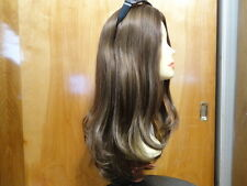 "Malky Wigs Sheitel European Multidirectional Medium Brown Highlights 22"" 6/8/10M"