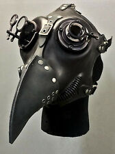 Apocalypse Hardware Custom Black PLAGUE Gas Mask Quality Leather Silicone Lenses