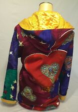 RARE Gianni Versace VINTAGE Colorful Long Coat 38 Collectors Made In Italy!