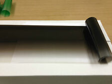 """SOLAR NON REFLECTIVE BLACK COLOR TINT STRIPS 8"""" X 6 FT WITH D,I,Y, KIT"""