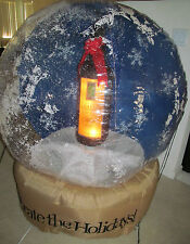 4 FOOT GEMMY BLACKSTONE WINE WINERY SNOWGLOBE AIRBLOWN CHRISTMAS INFLATABLE YARD