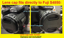 FRONT SNAP-ON LENS CAP fits DIRECTLY to CAMERA FUJI S4850 FINEPIX + HOLDER