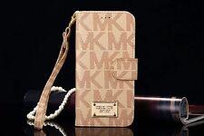 Beige Cubierta Para iPhone 6 Michael Kors/6s Plus Filp PLUS Funda Cartera De Cuero