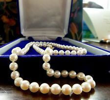 "18K MIKIMOTO 18"" AKOYA CULTURED PEARL NECKLACE 18K YELLOW GOLD SIGNATURE CLASP"