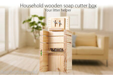 Household Wooden Soap Cutter Box Balancing Apparatus Adjustable Front Board