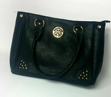 WOMENS BAG BLACK STUDDED TREE CHARM LEATHER UK FAST POSTAGE NEW  QUILTED