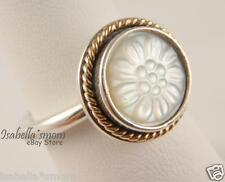 DAISY SIGNET Authentic PANDORA Silver/MOTHER of Pearl/14K GOLD Ring 7/54 NEW