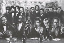 Gangsters Godfather Goodfellas Scarface Sopranos Movie Poster Print Wall Art