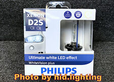 Philips Xenon D2S White Vision gen2 85122WHV2X2 5000K+120% Ultimate LED effect