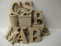 WOODEN  LETTERS A-Z Available  Premium Quality 95mm High 6mm Thick TIMES Font