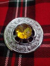 TC Kilt Broche Para Tela Escocesa Amarillo Piedra/Highland Cuadrados Escoceses