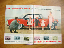 1955 Dodge Custom Royal Lancer 4 Door Sedan Ad  1955 L & M Cigarette Ad Holliday