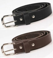 """Mens Real Leather Belt 1"""" Wide Genuine Made In England Size 26 - 54 inch"""