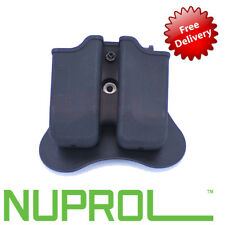 NEW NUPROL WE Glock 17 Airsoft 9mm Double Magazine Pouch Mag holster EU Series