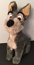 "Vintage Disneyland Lady and the Tramp Plush TRAMP Stuffed Dog WDW 18"" Tall"