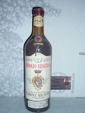 BROLIO RISERVA 1943 Chianti Classico Barone Ricasoli  RARISSIMA