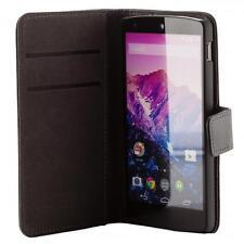 LG Google Nexus 5 Custodia per cellulare nera Custodia Portafoglio Wallet guscio protettivo