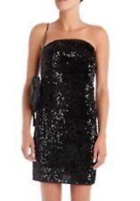 BNWT 100% Auth ZADIG & VOLTAIRE Black RALEG Sequin Velvet Strapless Dress UK 10