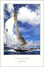 J Class Velsheda Racing Poster America's Cup Sail Boat