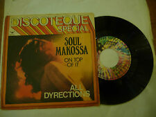 "SOUL MAKOSSA""ON TOP OF IT-disco 45 giri BUDDHA it  1973"" AFRO/DISCO"