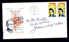 CANADA #539  LJ PAPINEAU  #6 ENVELOPE  FDC 5/7/71   USED  a