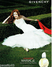 PUBLICITE ADVERTISING 125  2007   Givenchy parfum femme MARIAGE AMARIGE