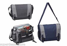 "Navy Color Urban Messenger Bag with 17"" laptop Padded Sleeve - AP3723"