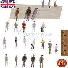 100 PCS 00 Gauge Model Railway Painted Train Street Figures / People Scale 1:75