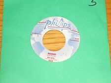 "INSTRUMENTAL 45 RPM - BILL JUSTIS - PHILLIPS 3519 - ""RAUNCHY"" + ""MIDNIGHT MAN"""