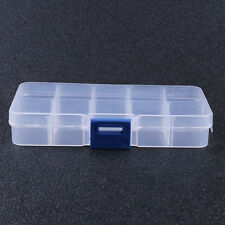3Pcs 10 Compartment Small Organizer Storage Plastic Box Craft Bead Nail Fuse NEW