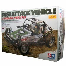 Tamiya 1:10 Fast Attack Vehicle Shark Mouth EP 2WD RC Car Off Road Buggy #58539
