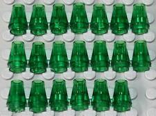Lego Nose Cone Small 1x1 Tr. Green 20 pieces NEW!!!