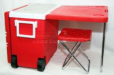 28 terdecies multi function pique-nique refroidisseur de roulement avec table & 2 tabourets de camping outdoor R
